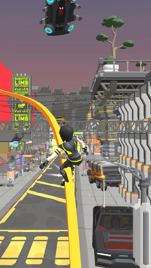 滑板跑步3D截图