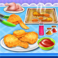油炸鸡快餐烹饪