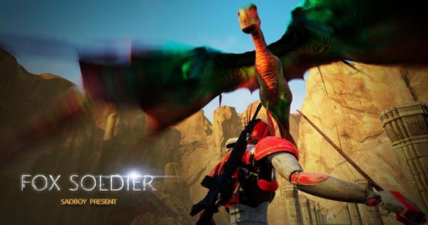 受气小胖第一款3A级游戏,《Fox Soldier》即将上线Steam