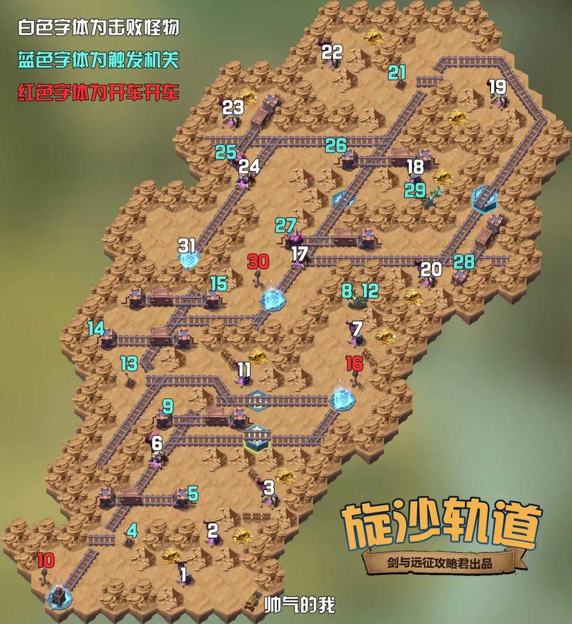 剑与远征旋沙轨道通关路线图分享