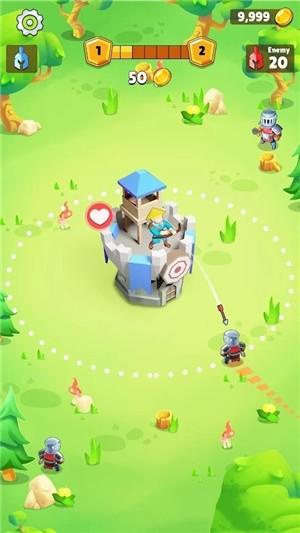自动成长城堡塔防截图
