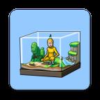 罕见生物的水族箱