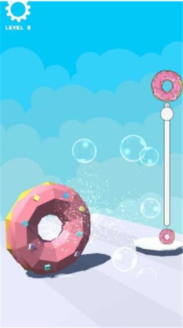 甜甜圈缩放跑截图
